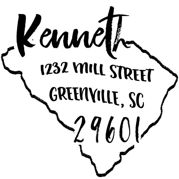 Custom South Carolina Address Stamp