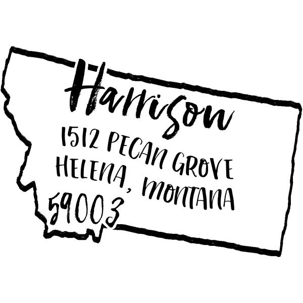 Custom Montana Address Stamp