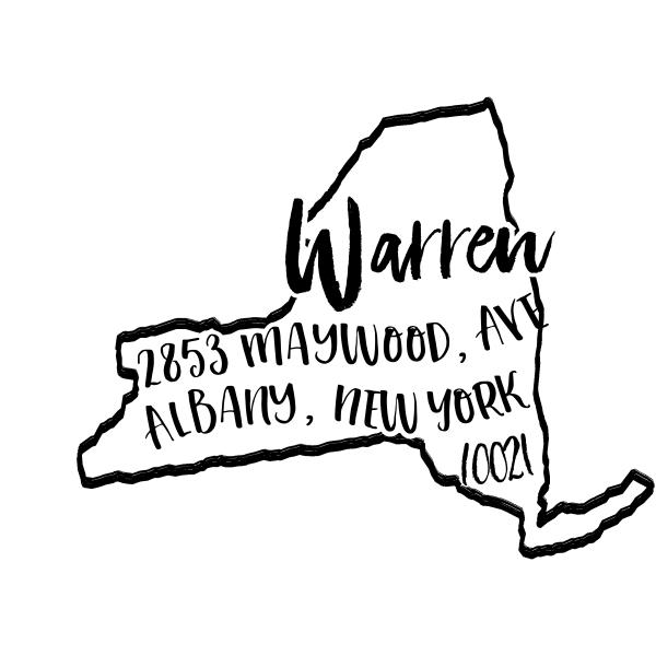Custom New York Address Stamp