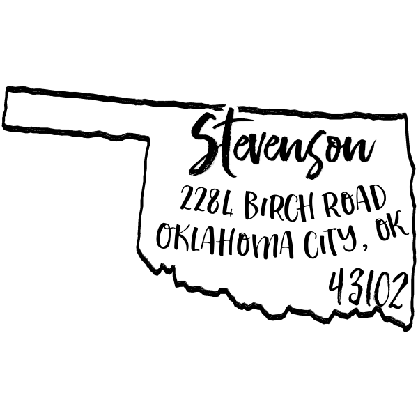 Custom Oklahoma Address Stamp