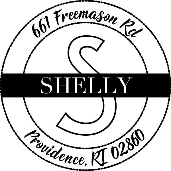 Shelly Return Address Stamp