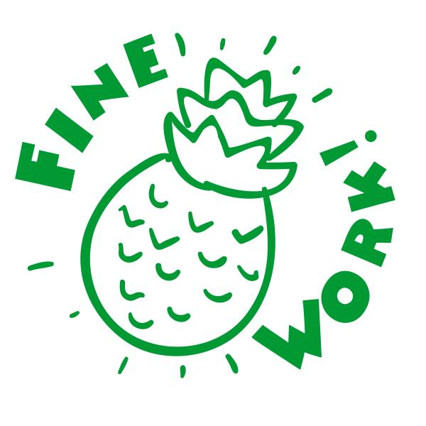 Fine Work Pineapple Stamp