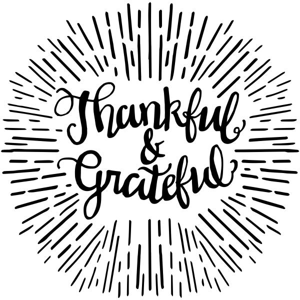 Thankful & Grateful Craft Stamp