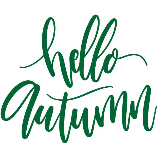 Hello Autumn Craft Stamp
