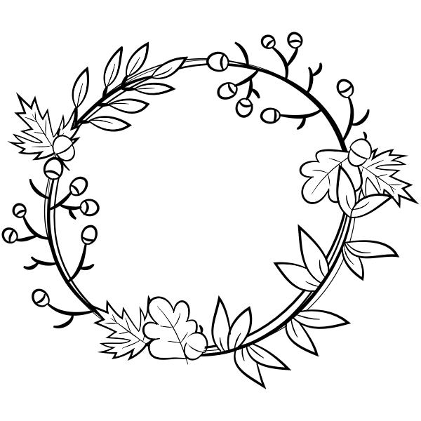 Autumn Wreath Craft Stamp