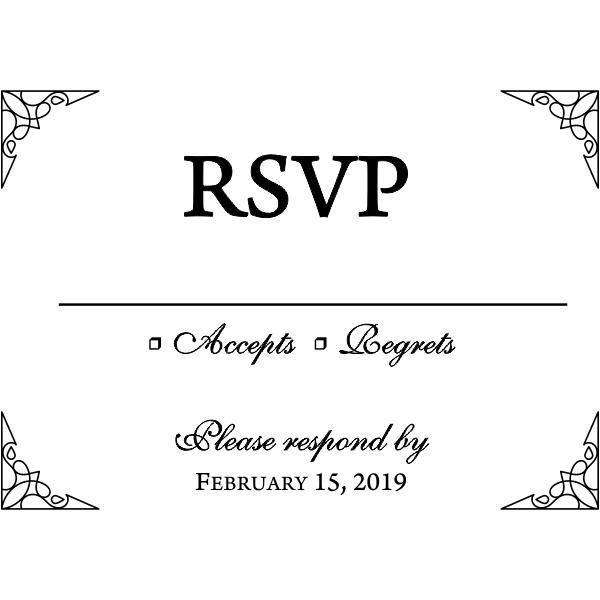 Formal Ornate Wedding RSVP Stamp