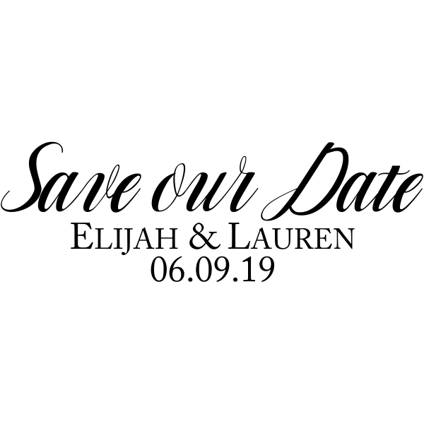 Simple Formal Save the Date Stamp