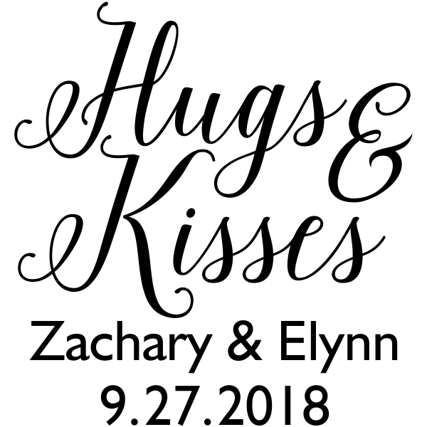 Hugs & Kisses DIY Wedding Stamp