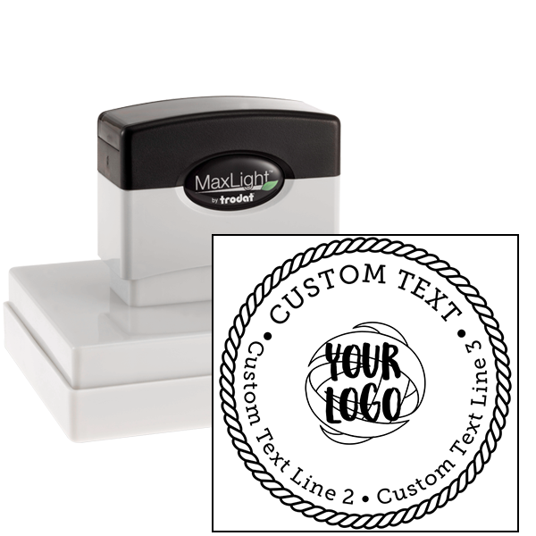 Rope Border Custom Logo Stamp