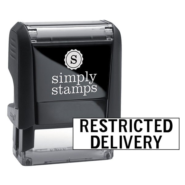 Restricted Delivery Stock Stamp