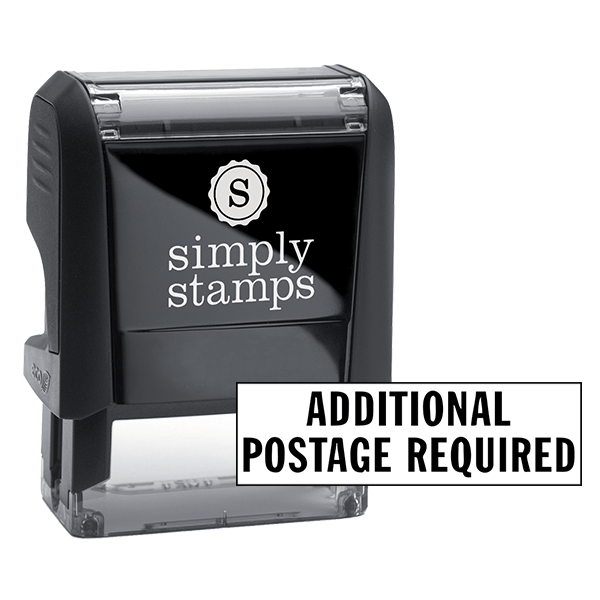 Additional Postage Required Stock Stamp
