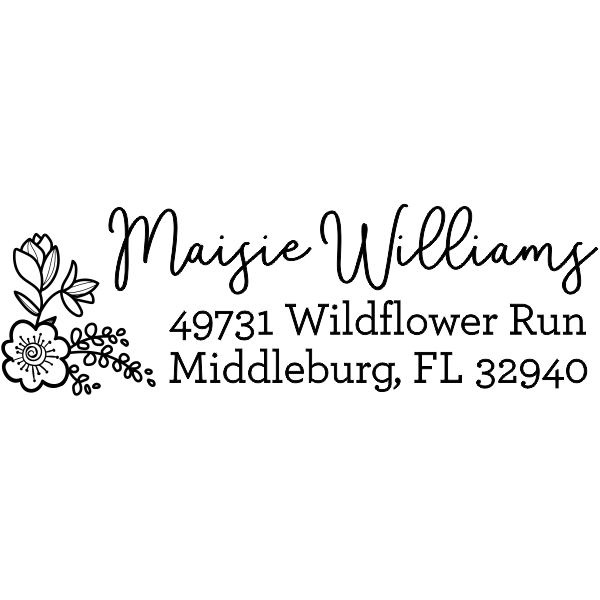 Maisie Floral Address Stamp
