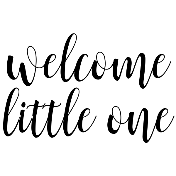Welcome Little One Craft Stamp