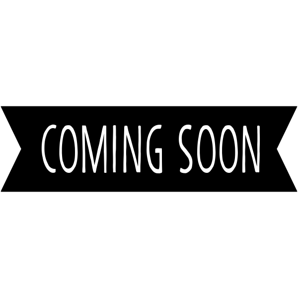 Coming Soon Banner Craft Stamp