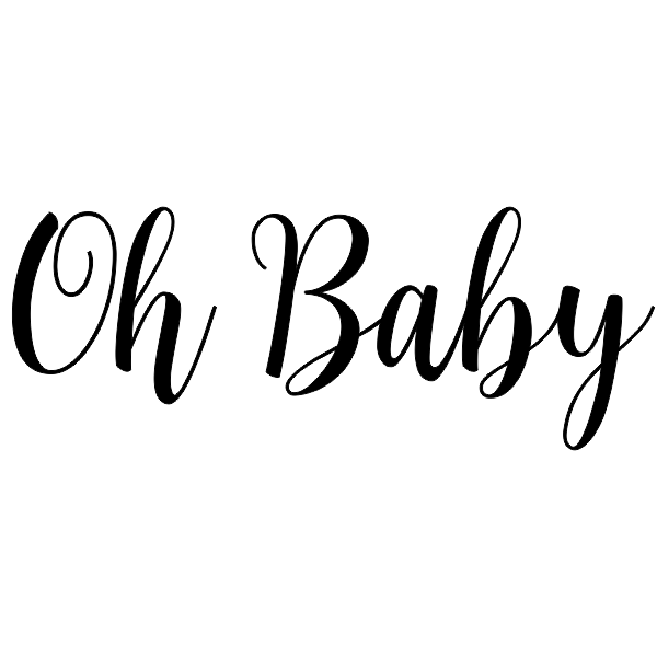 Oh, Baby! Cursive Craft Stamp