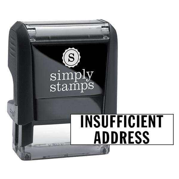 Insufficient Address Stock Stamp