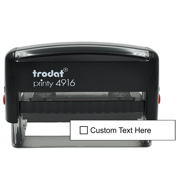 1 Line Checkbox Custom Rubber Stamp