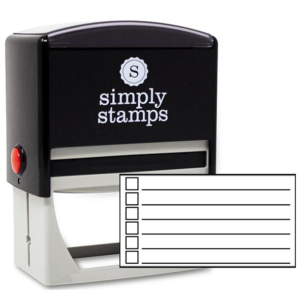 6 Line Checkbox Rubber Stamp