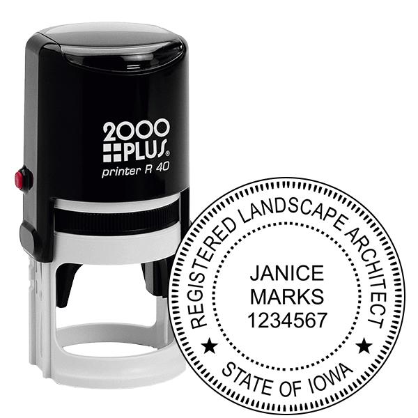 State of Iowa Landscape Architect Seal