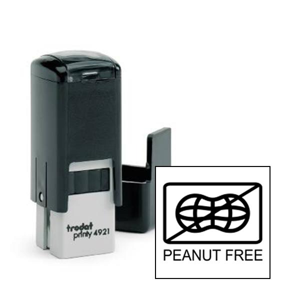 Peanut Free Allergy Alert Stamp
