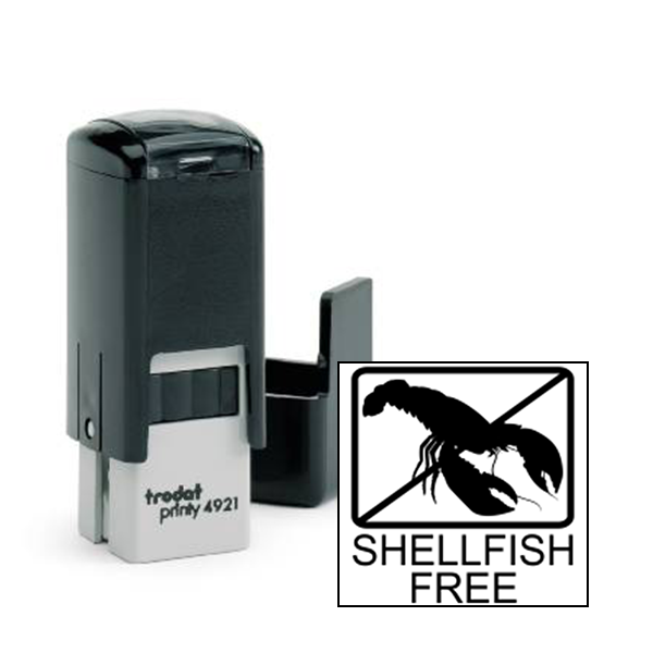 Shellfish Free Allergy Alert Stamp
