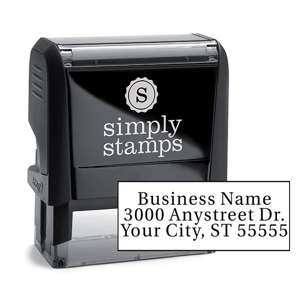 Serif Custom 3 Line Address Stamp