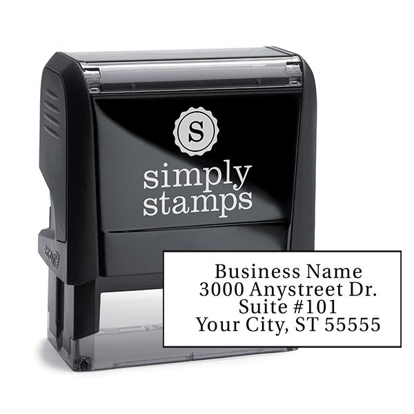 Serif Custom 4 Line Address Stamp