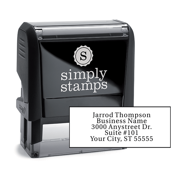 Serif Custom 5 Line Address Stamp