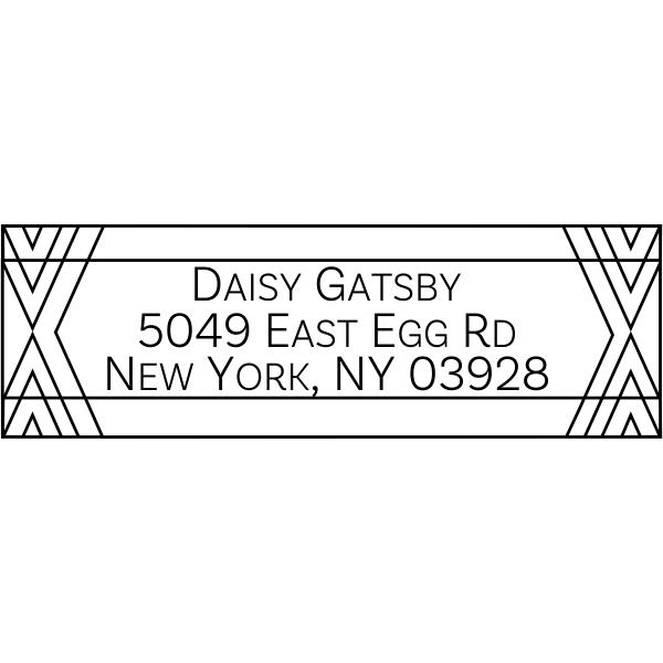 Gatsby Fancy Border Address Stamp