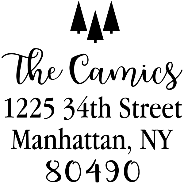 Tiny Trees Christmas Address Stamp