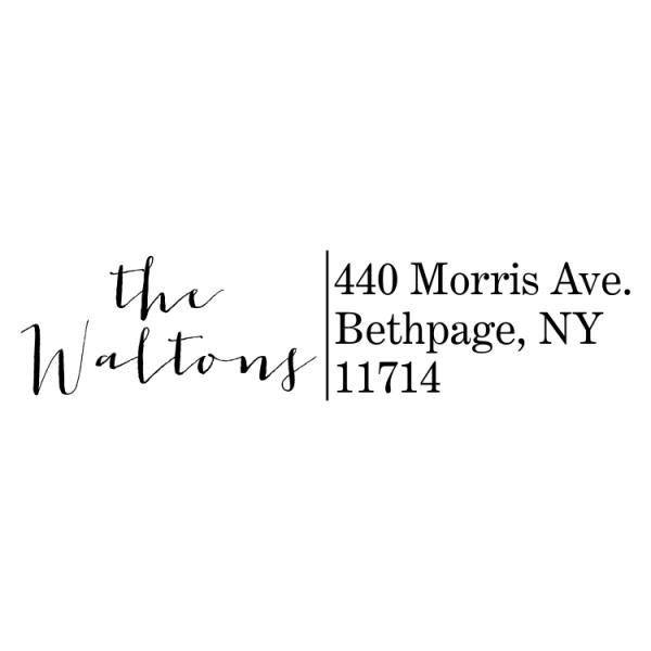Modern Calligraphy Address Stamp