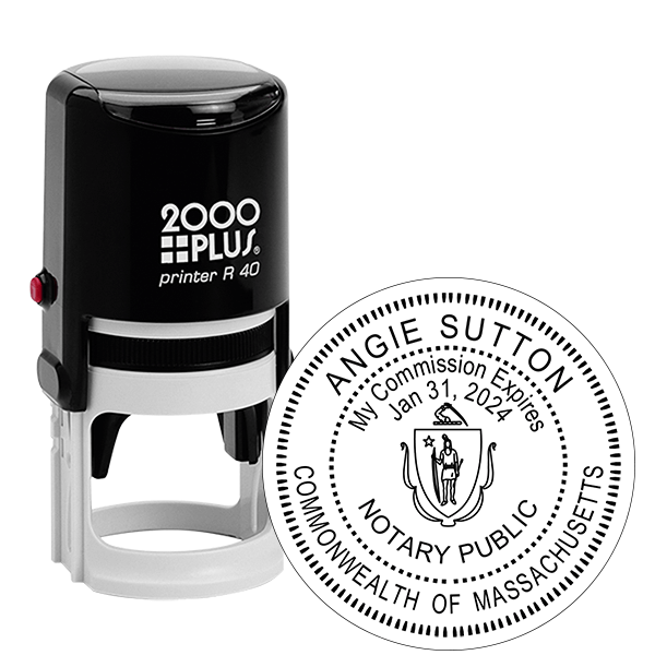 Massachusetts Notary Round Stamp