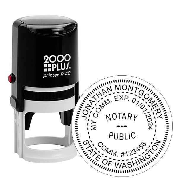 Washington State Notary Round Stamp