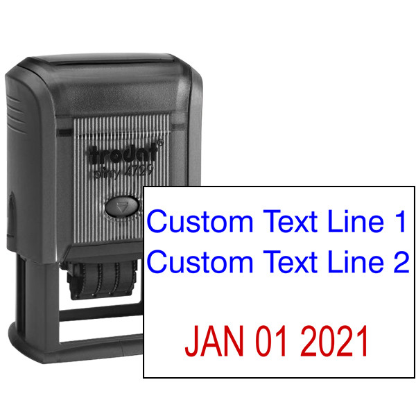 2 Top Lines Date Stamp