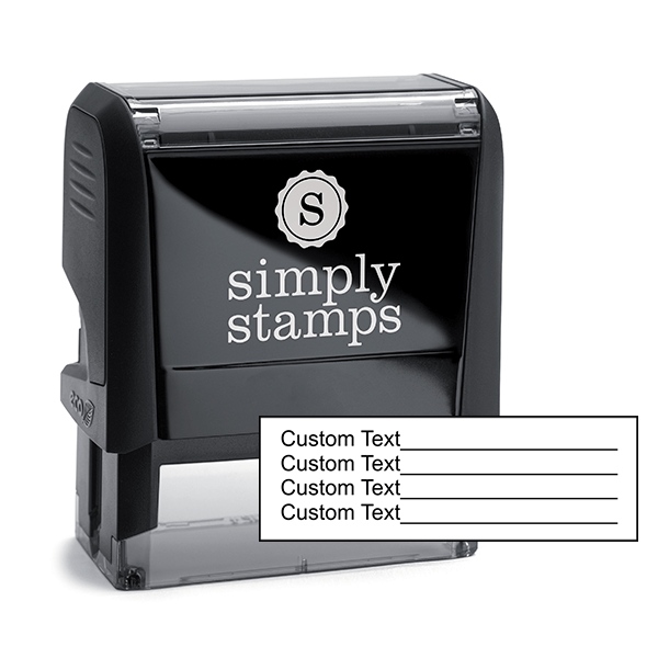 Custom 4 Line Text With Form Stamp