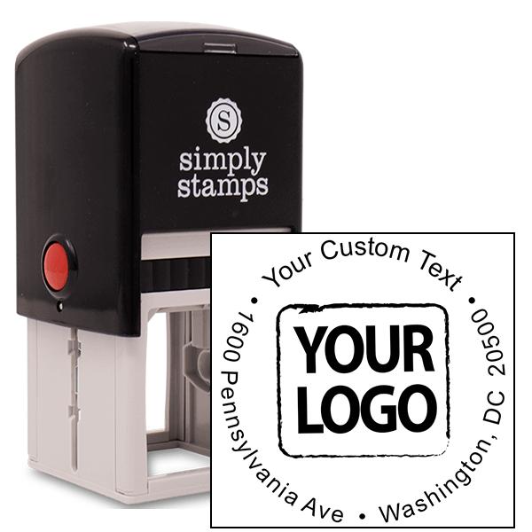Custom Rubber Logo Stamp - Simple Round