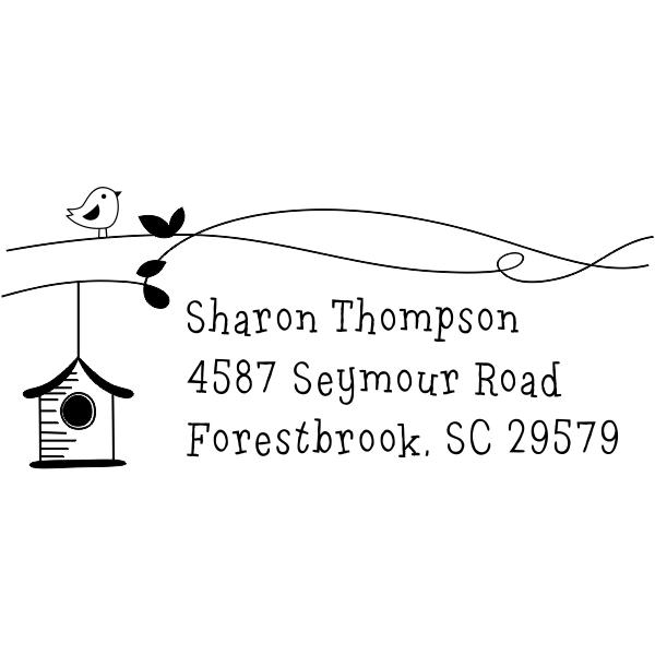 Birdhouse Return Address Stamp