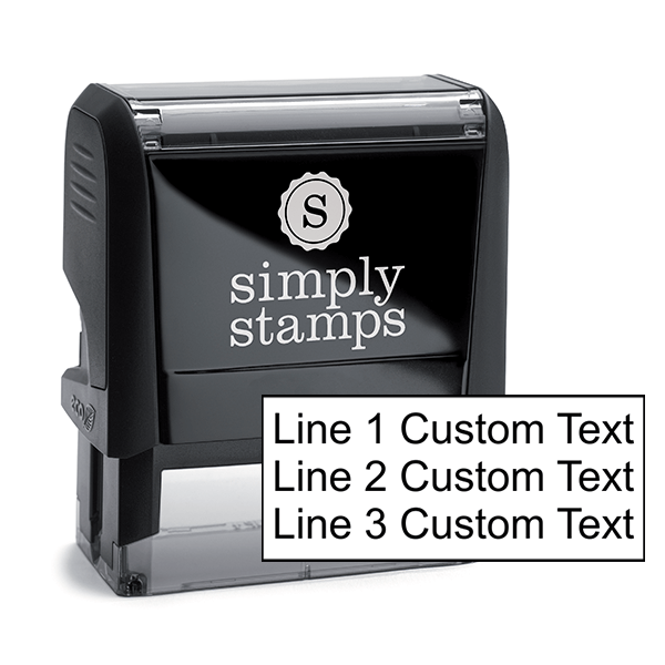 3 Line Custom Rubber Stamp