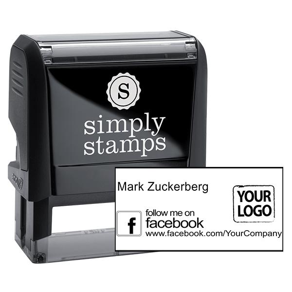 Follow Me on Facebook Logo Stamp