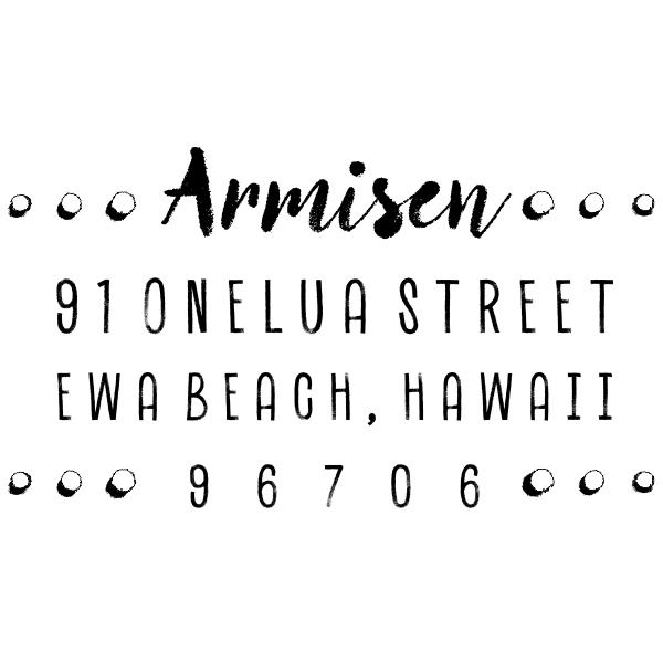 Armisen Halftone Address Stamp