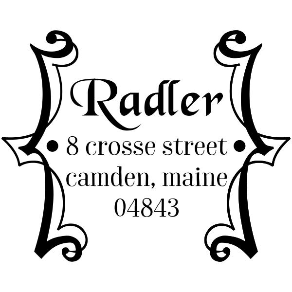 Radler Framed Address Stamp