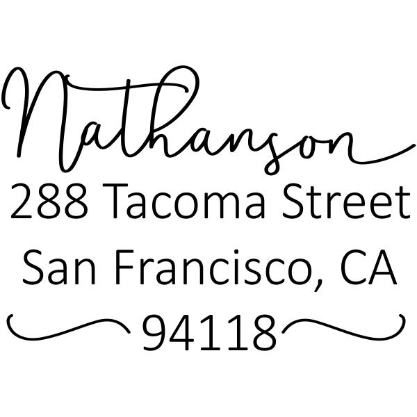 Nathanson Swash Address Stamp
