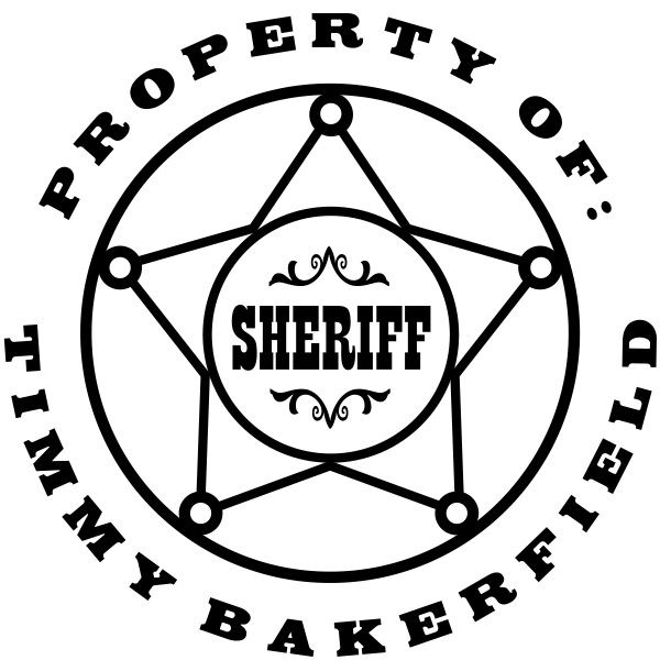 Property of Sheriff Badge Rubber Stamp