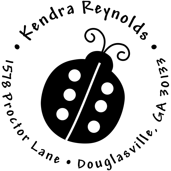 Lady Bug Return Address Stamp