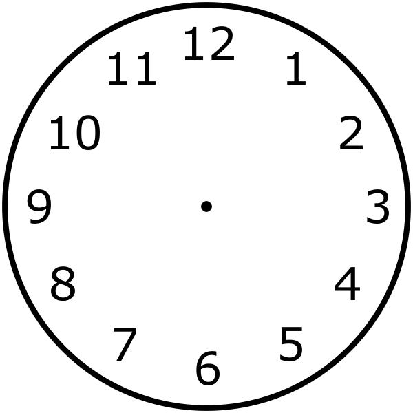 Time Due - Standard Clock Rubber Teacher Stamp