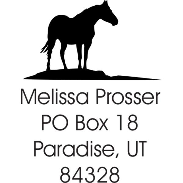 Horse Square Stamp