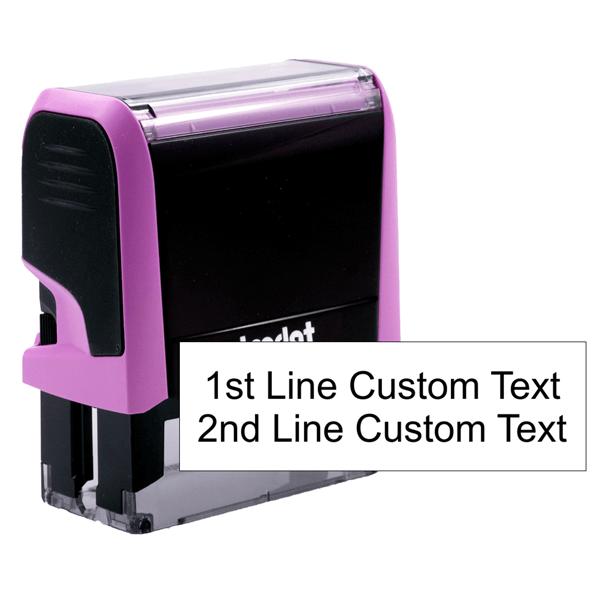 2 line pink stamp