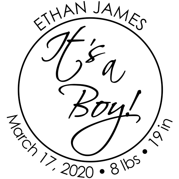 It's A Boy New Baby Stamp