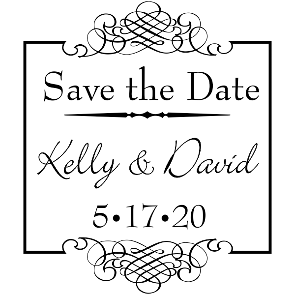 Save The Date Rubber Stamp