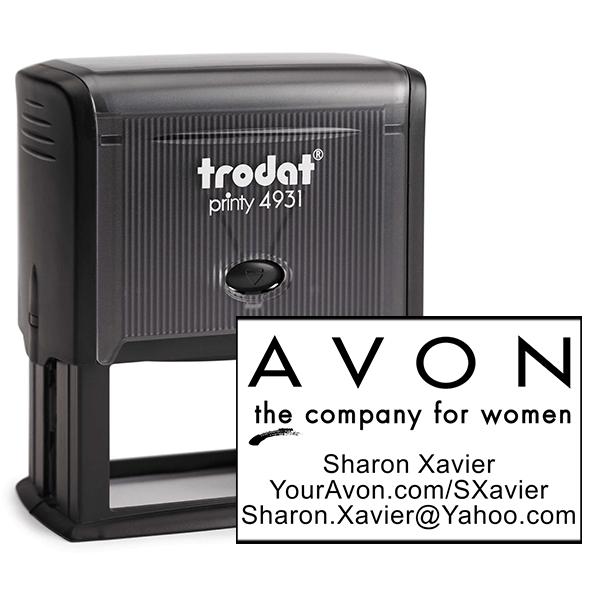 Custom Avon Consultant Stamp Style 1